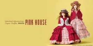 Super Dollfie meets PINK HOUSE - Fashion Brand Collaboration Project